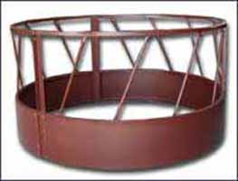 Heavy Duty Round Bale Feeder w/ Metal Bottom