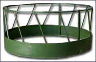 Metal Bottom Round Bale Feeder
